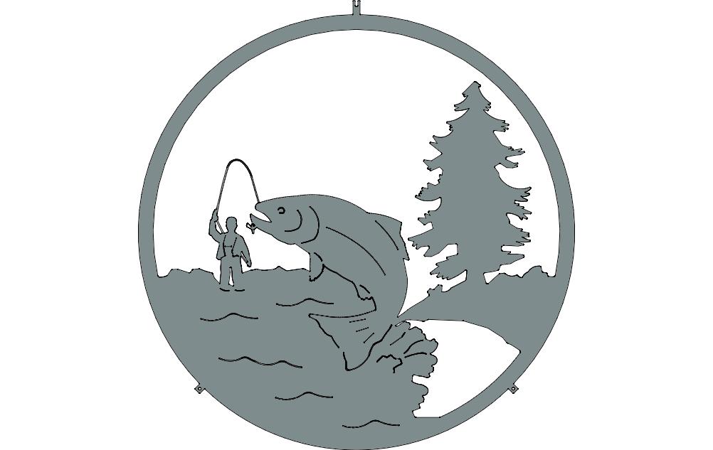 Fishing Free DXF File