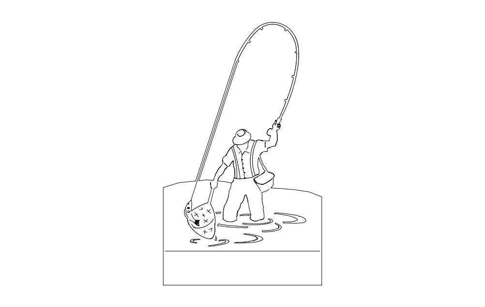 Fisherman Free DXF File