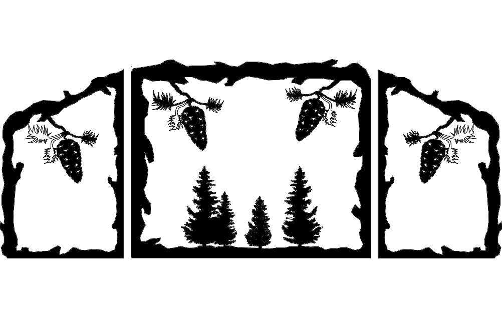 Fireplace Screen Design Free DXF File