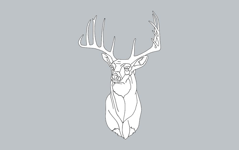 Deer 1 Free DXF File