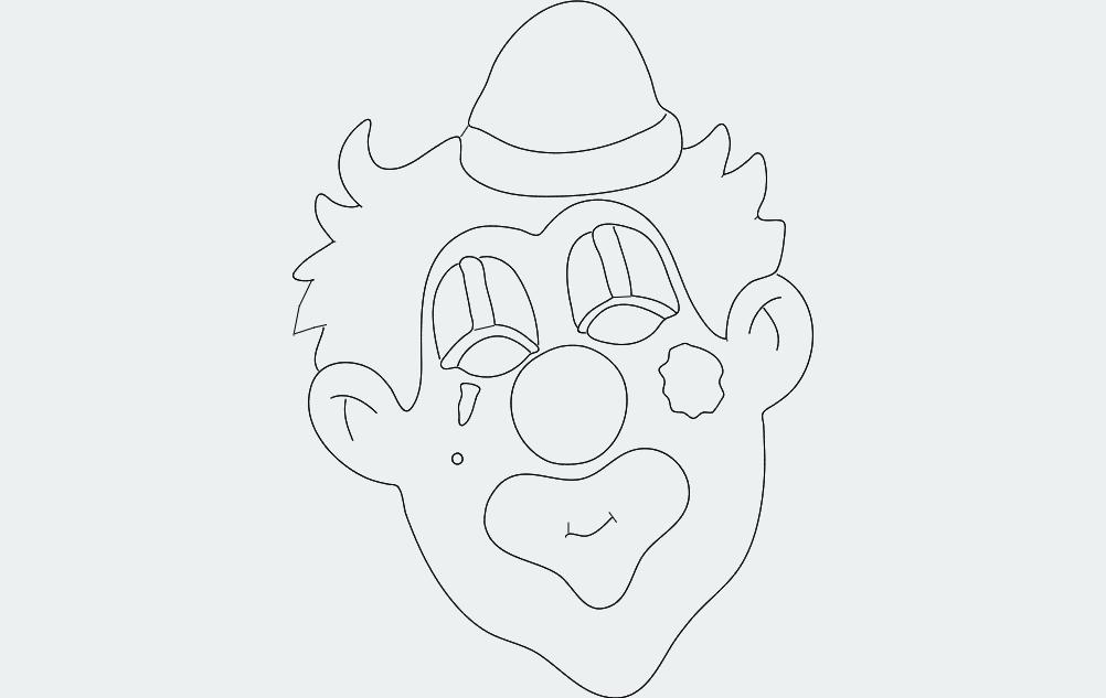 Clown Free DXF File