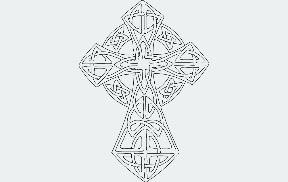 Celticcross Free DXF File