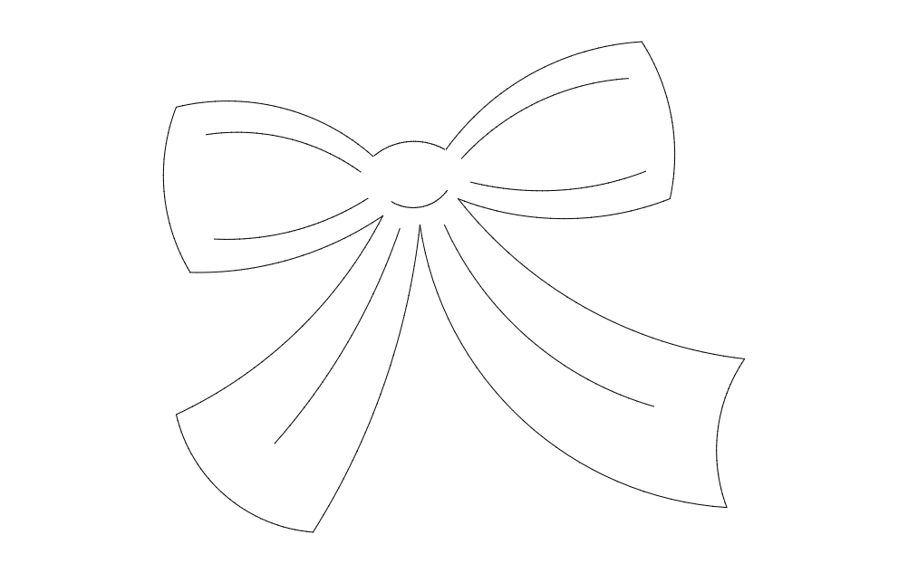 Bow Design Free DXF File