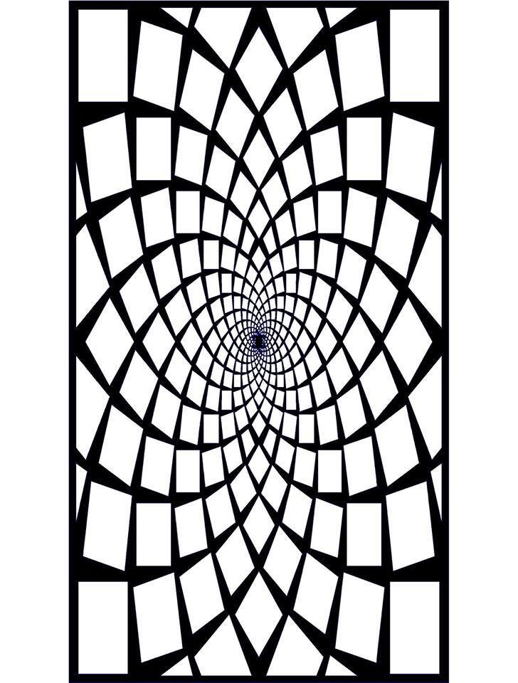 3D Kare seperatör Jali Design Pattern Free DXF File