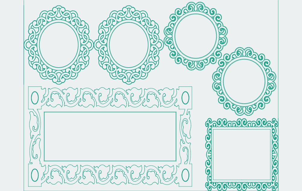 Aynalar Frame 1 Free DXF File