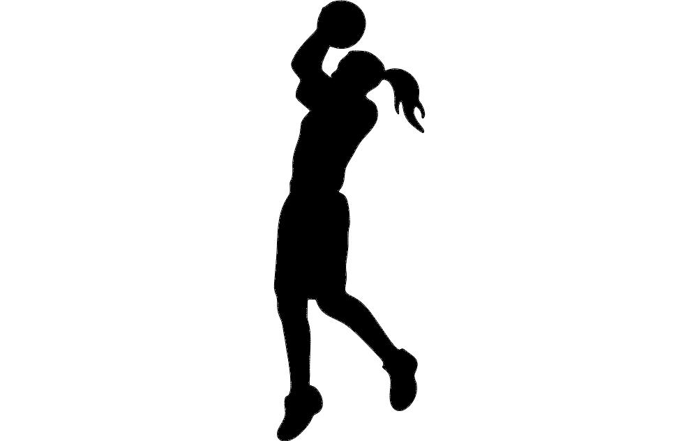 Basketball Silhouette Free DXF File