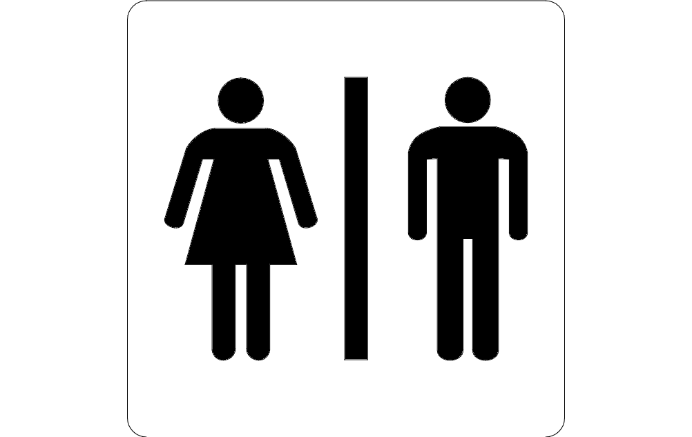 Bathroom Sign Ladies And Gents Free DXF File