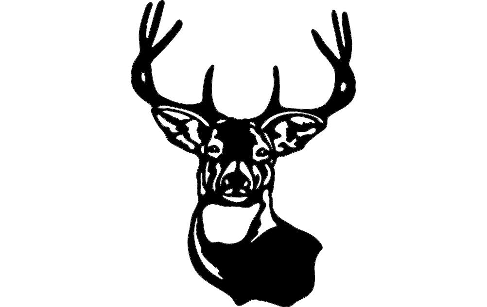 Buck Mule Deer Free DXF File