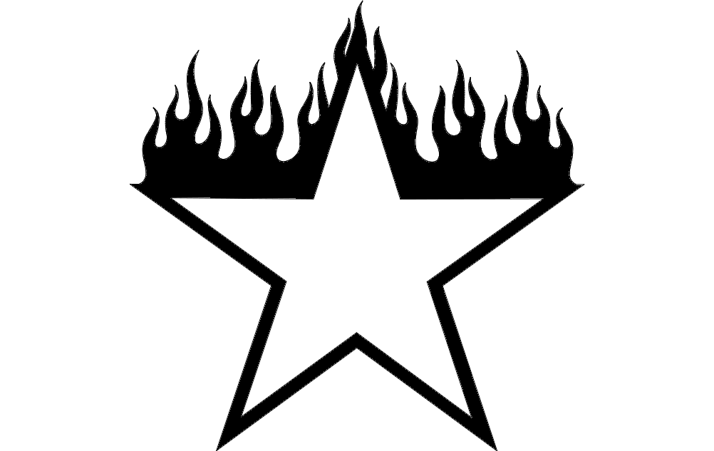 Burning Star Design Free DXF File