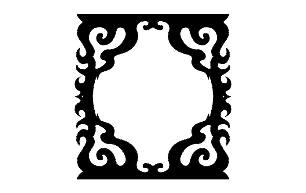 Decorated Frame Free DXF File