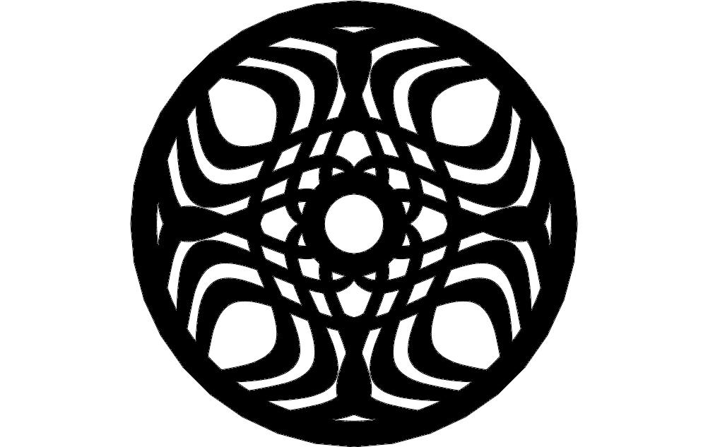 Circle Decoration Free DXF File