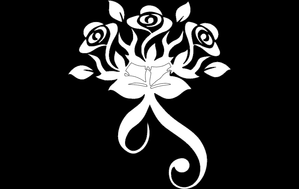 Design Flower Free DXF File