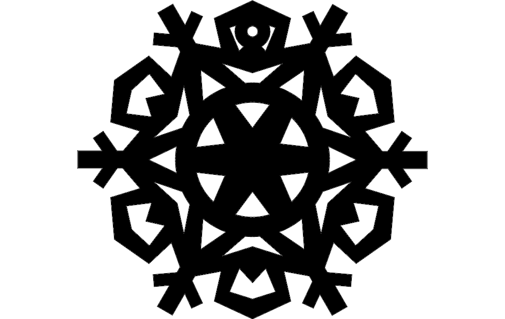 Design Snowflake 8 Free DXF File