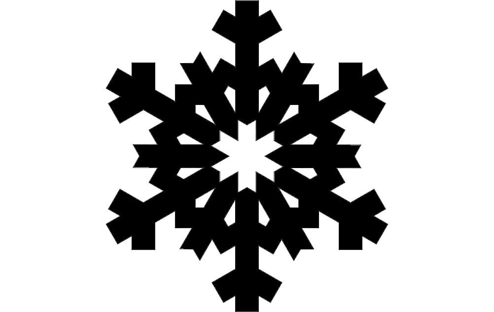 Design Snowflake Free DXF File