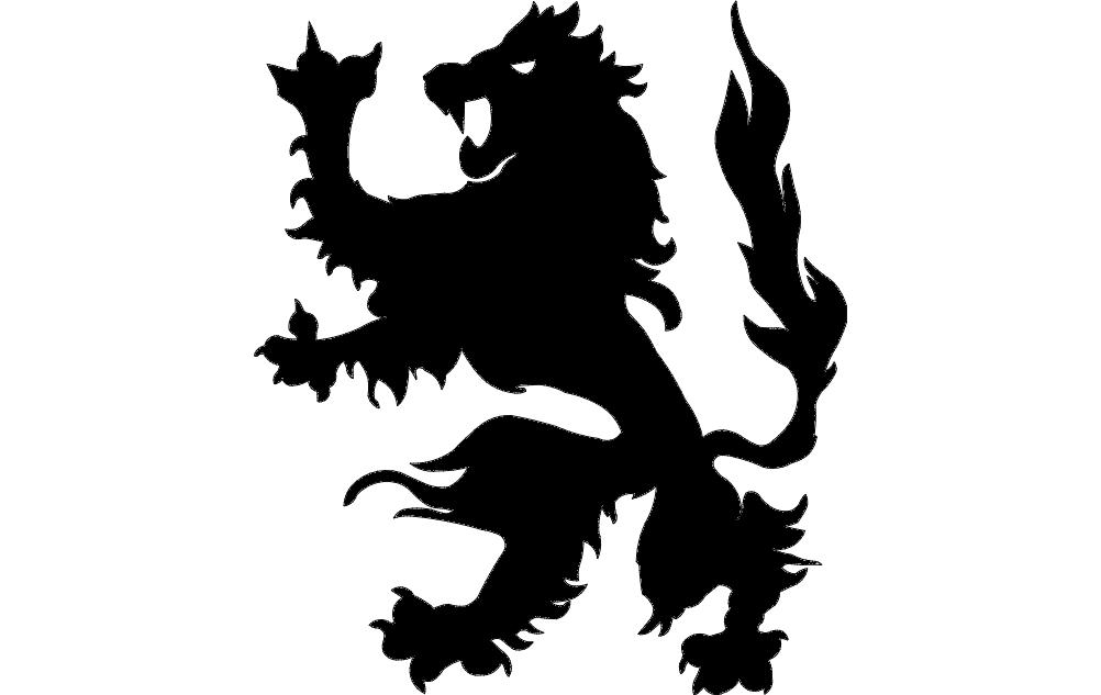 Dragon Silhouette Free DXF File