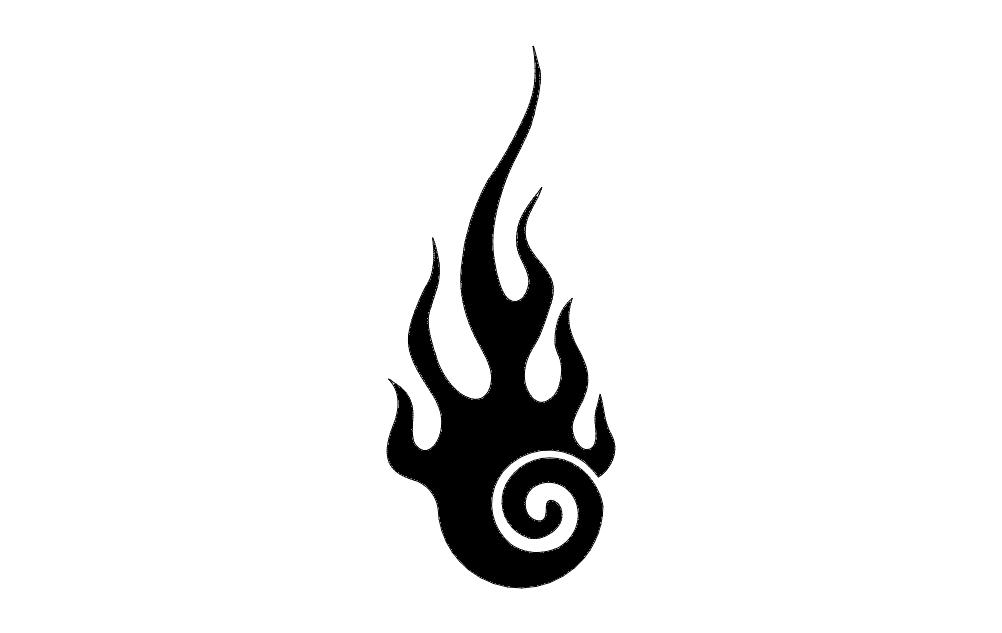 Flame Design Free DXF File