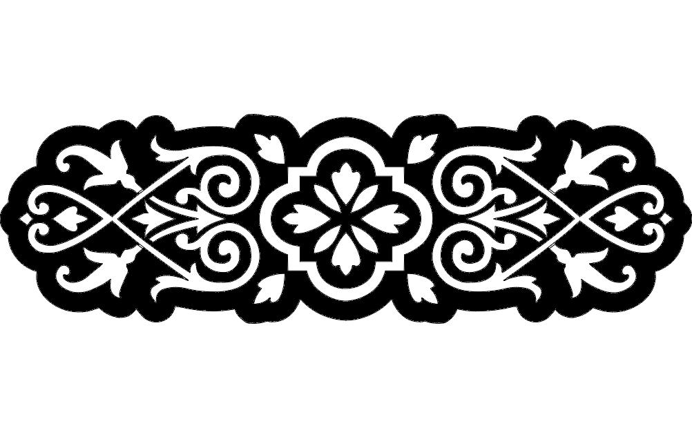 Floral Grille Design Free DXF File