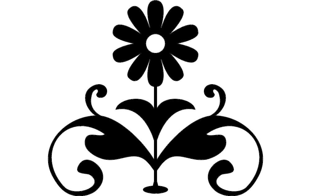 Flower 3 Free DXF File
