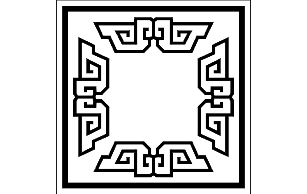 Frame Design 6 Free DXF File