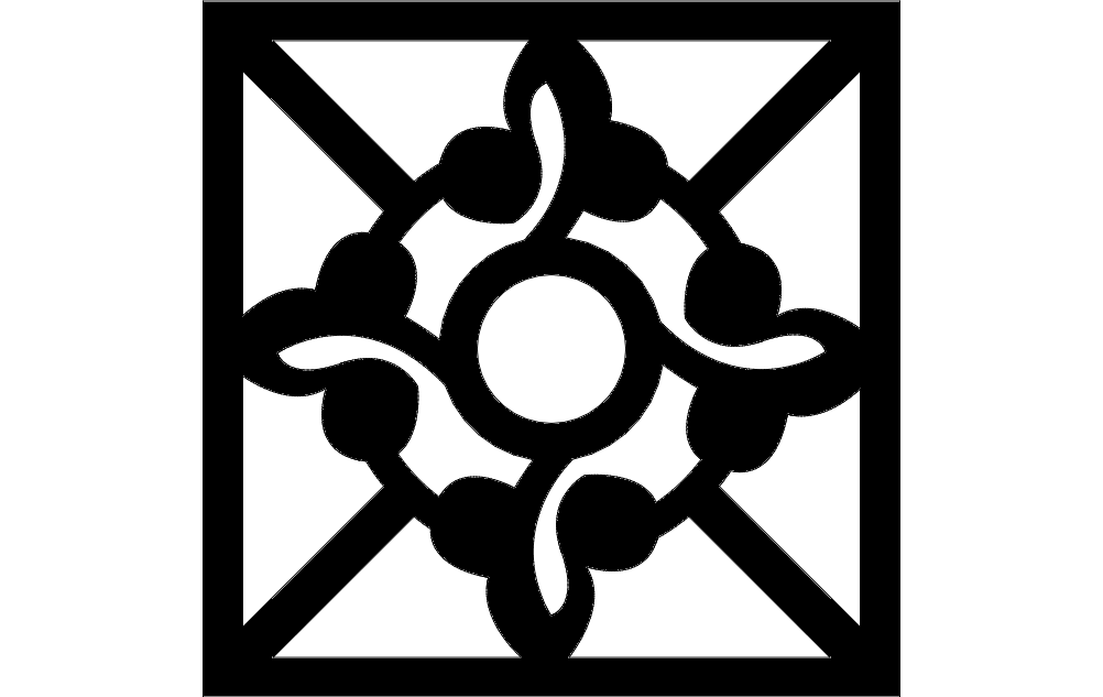 Grille Pattern Free DXF File
