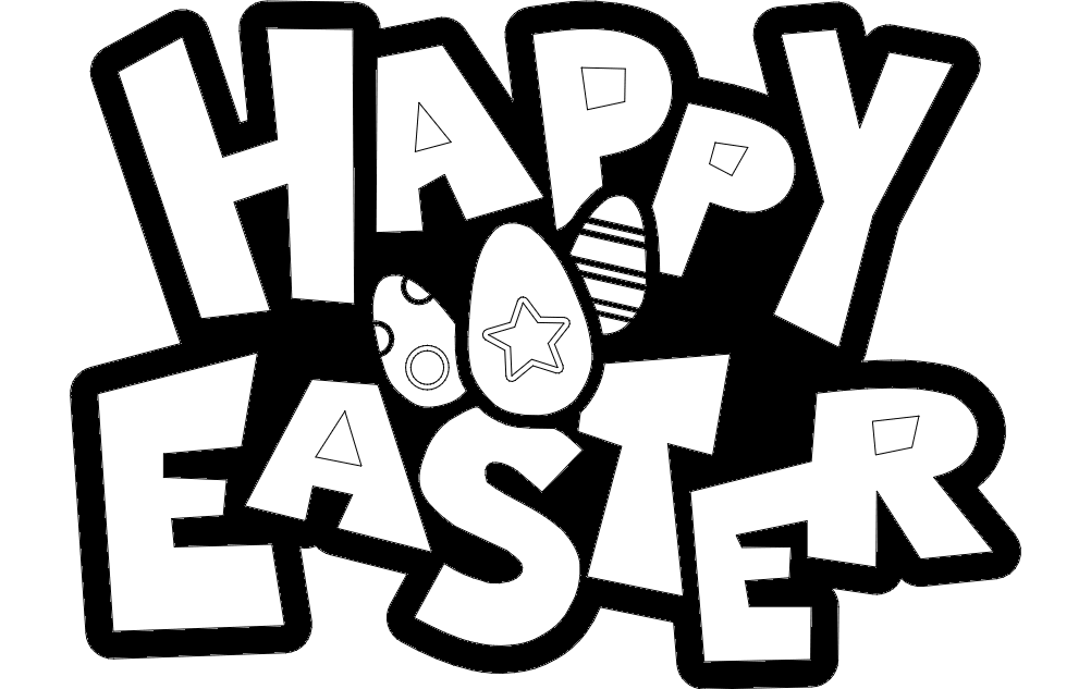 Happy Easter Sign Free DXF File