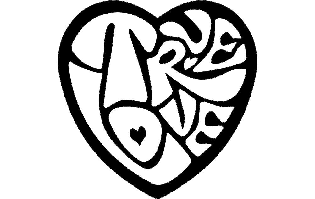 Heart Design Free DXF File