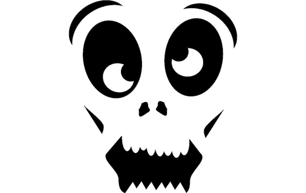 Horror Face Eyes Free DXF File