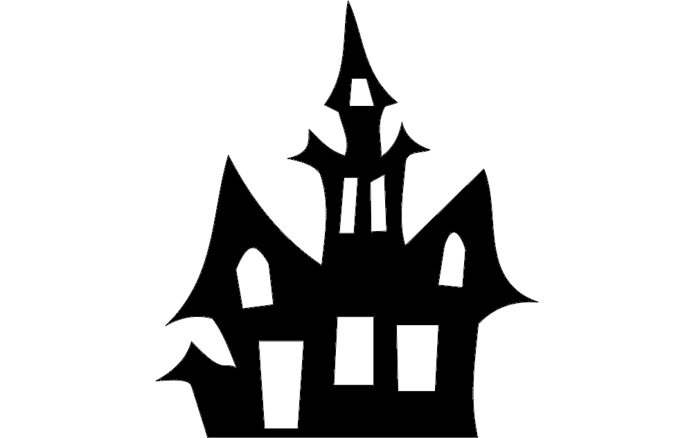 Horror House Free DXF File