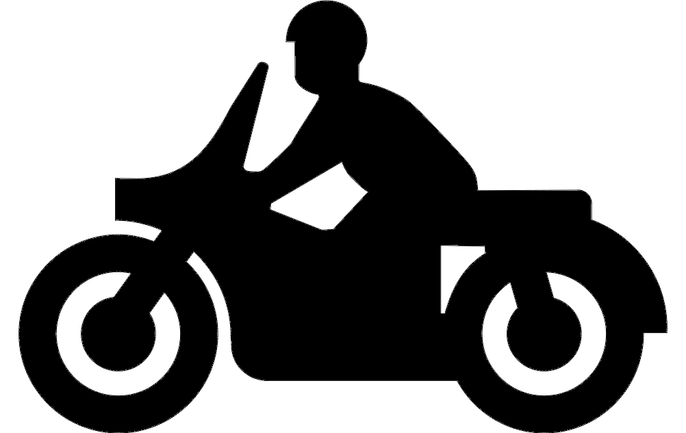 Motorcycle Silhouette Free DXF File