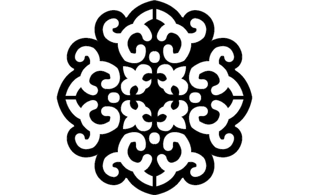 Pattern Panel Design Free DXF File