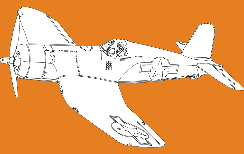 Single Seater Plane Free DXF File