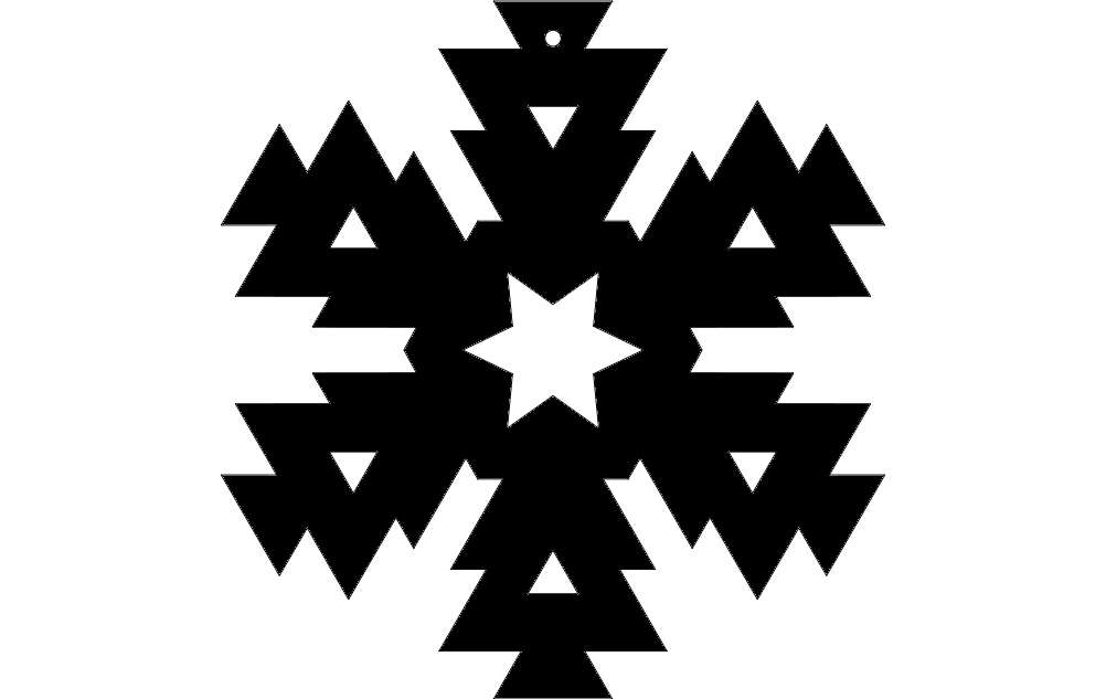 Snowflake Design 6 Free DXF File