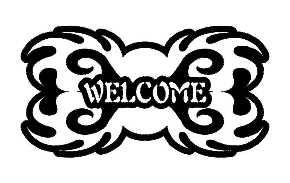 Welcome Design Free DXF File