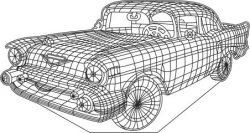 3d Antique Car Illusion Led Lamp Free DXF File