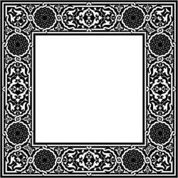 Classic Square Decorative Motifs Download For Laser Cut Cnc Free DXF File