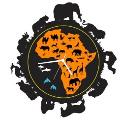 Clock Animals From The Jungle Of Africa For Laser Cut Plasma Free DXF File