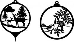 Decorations For Deer And Birds Free DXF File