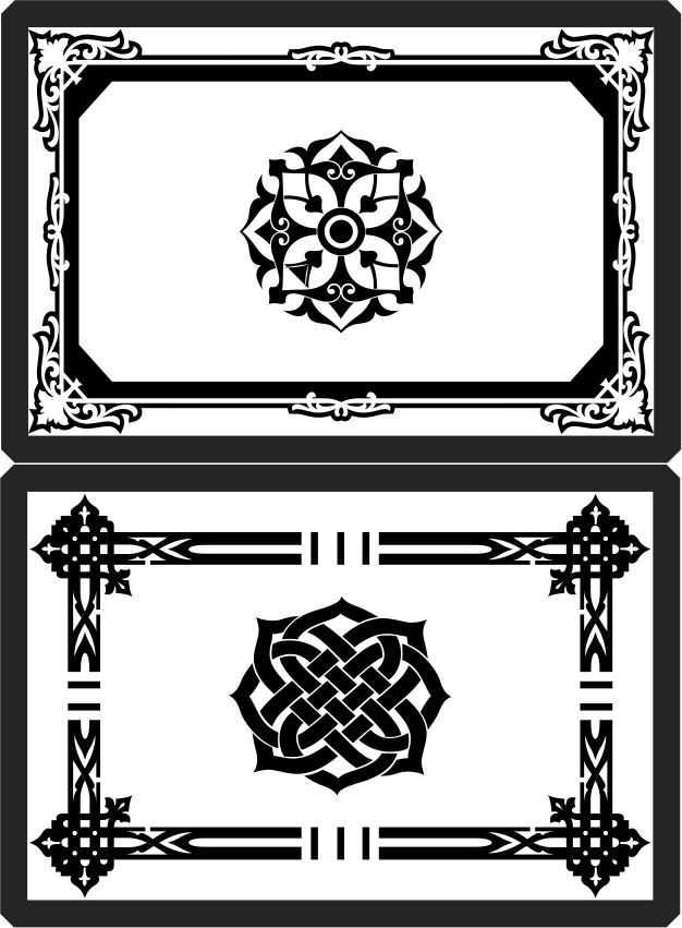 Decorative Frame In Arabic Style Download For Laser Cut Cnc Free DXF File