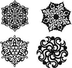 Decorative Motifs Circle Download For Laser Cut Plasma Free DXF File