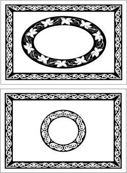 Decorative Motifs Rectangular Frame Download For Laser Cut Cnc Free DXF File