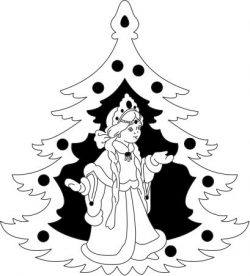Decorative Pictures Of Russian Little Girl Free DXF File