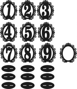 Frame The Numbers Download For Laser Cut Cnc Free DXF File