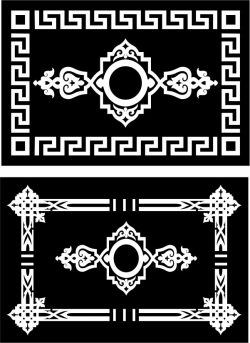 Islamic Rectangle Texture Download For Laser Cut Cnc Free DXF File
