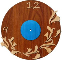 Lily Shaped Clock Download For Laser Cut Plasma Free DXF File
