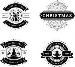 Merry Banner Download For Print Or Laser Engraving Machines Free DXF File