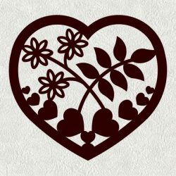 Mussel Heart Weed Flower Download For Laser Cut Cnc Free DXF File