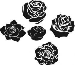 Romantic Rose Pattern Download For Laser Engraving Machines Free DXF File