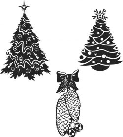 Tree Download For Print Or Laser Engraving Machines Free DXF File