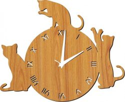 Watch 3 Black Cats Download For Laser Cut Plasma Free DXF File