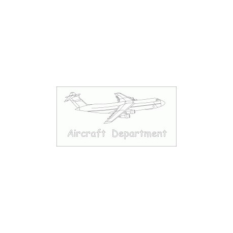 Aircraft Department Free DXF File
